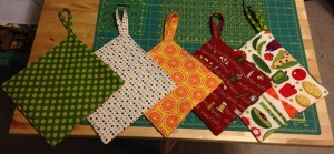 potholders, variety of colors and patterns available