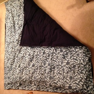 queen duvet cover made with fabric from Ghana