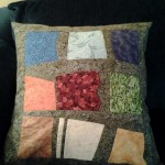 modern style pillow to go with sudoku quilt