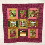 quilt from a panel, my own design of sashing around the edges