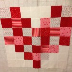 Square tiles sewn together
