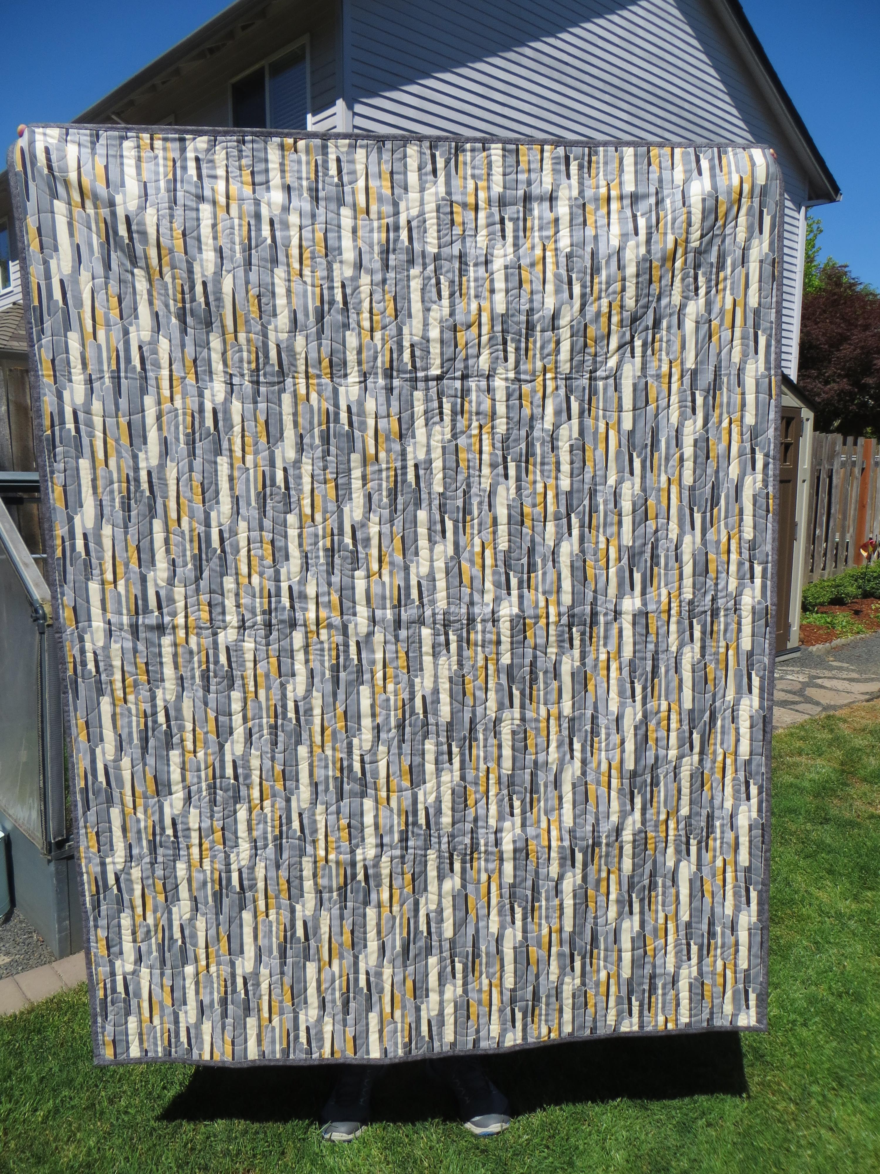 back Lauren's quilt