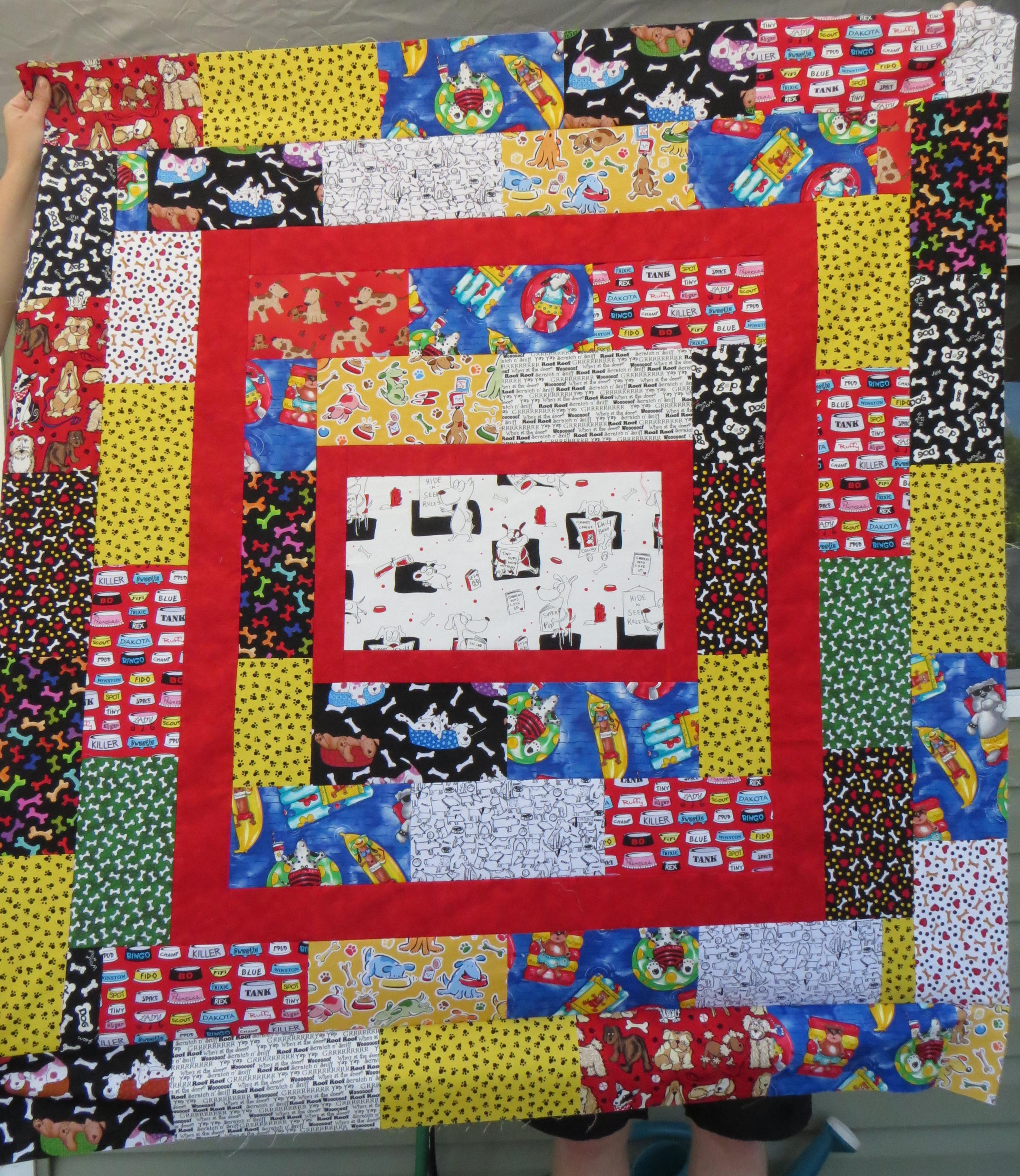 crop front dog quilt